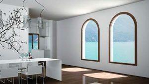 پنجره upvc ثابت در اشکال مختلف