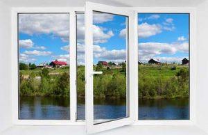 ترکیب پنجره دوجداره upvc ثابت و بازجو